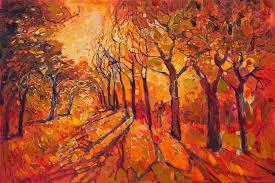 Warm Orange Color Vibrant Landscape Paintings Use The Color Orange To Capture The