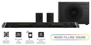 7 1 home theater speakers shockwafe pro 45 inch sound bar by nakamichi hardware pro