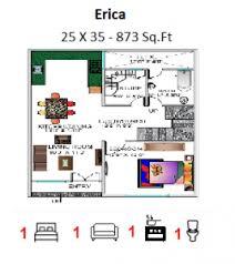 customized floor plans gf 25 x 35 873 sq ft floor plan bungalow