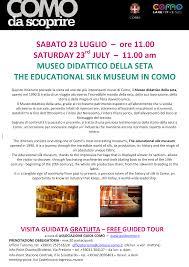 ufficio guide il museo didattico della seta silk museum como italy