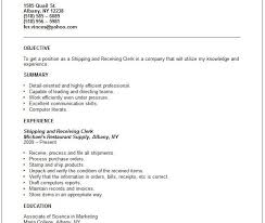 Resume Shipping And Receiving Download Shipping Clerk Resume Haadyaooverbayresort Com