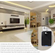 Interior Doorbell Cover 1byone Easy Chime Wireless Doorbell 1 Plug In Receiver U0026 1 Push