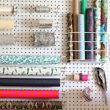 present wrapping station diy gift wrapping pegboard station crafthubs