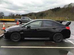 black subaru subaru 2015 wrx sti type uk symetrica black low mileage car for sale