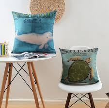 jeter un canapé shedd aquarium coussins de canapé tortue jeter style marine