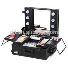 rolling makeup case with lighted mirror wholesale professional 360 degree 4 wheel rolling multilayer drawers