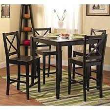 5 piece table and chair set amazon com simple living counter height 5 piece dining set table