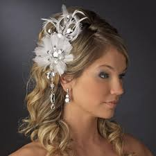 hair fascinator vintage bridal feather hair fascinator with dangling crystals clip