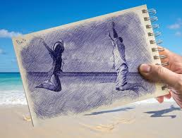 ballpoint pen drawing vs photography online photo effect