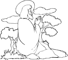 jesus children coloring page free download