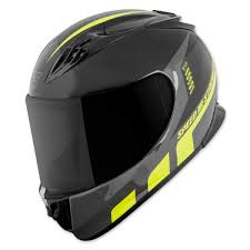 Motorcycle Helmet Lights Speed And Strength Ss3000 Light Speed Black Hi Viz Full Face