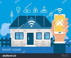 smart home technology smart home technology concept vector illustration stock vector