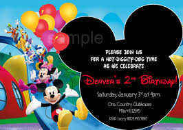 mickey mouse clubhouse invitation template free smart tag me