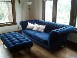 Mid Century Modern Tufted Sofa by Furniture Modern Mid Century Rectangular Blue Tufted Ottoman