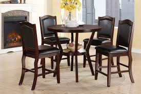lucy brown counter height 5pc dining set u2014 coco furniture gallery