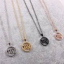 stainless steel necklace pendant images 4 colors zodiac signs stainless steel necklaces pendants www jpg