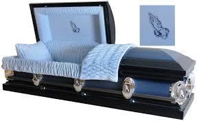 matthews casket praying monarch blue finish with blue velvet interior
