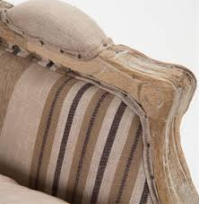 raymond french country burlap brown stripe club chair kathy kuo home