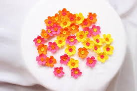 edible cake decorations fondant flowers 36 assorted bright color combination hawaiian