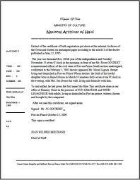 birth certificate correction sample letter caribbean living haiti extrait d acte de naissance extract of haiti extrait d acte de naissance extract of certificate of birth