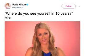 Paris Hilton Meme - paris hilton has been sharing memes of herself and i love it