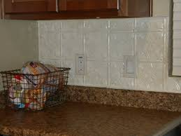tin tile backsplash painted with a bit of glazing kitchen