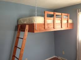 small bed hanging loft bed maximizing the space of small rooms modern