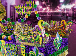 mardi gra floats mardi gras float effect using pre made decorations and signs mardi