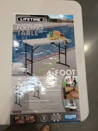 adjustable folding tables costco lifetime products 4ft x 2 ft utility table costcochaser