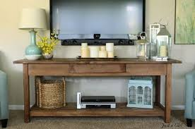 console table under tv i really like this table love the look of this under a mounted