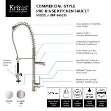 commercial kitchen faucet faucet com kpf 1602 in chrome by kraus