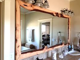 Framed Bathroom Mirrors Ideas Wood Framed Bath Mirrors Birdcages