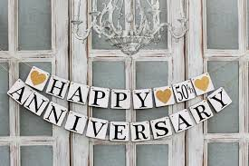 anniversary decorations 1 10 25 50th anniversary party signs