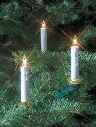 clip on christmas tree candle lights set of 10 holiday lighting