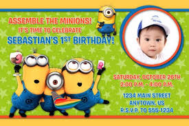 custom birthday invitations minions despicable me custom photo birthday invitation you print