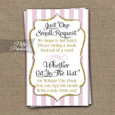 baby shower bring book instead of card printable bring a book baby shower insert pink gold