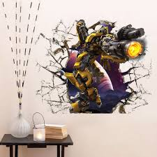 kid wall mural promotion shop for promotional kid wall mural on 3d transformers autobots bumblebee pvc wall decals adhesive stickers mural art home decor children kids bedroom birthday gift