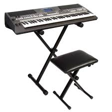 yamaha psr s670 arranger workstation keyboard with stand and bench
