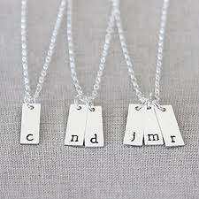 handmade charm necklace images Tiny vertical initial necklace sterling silver personalized jpg