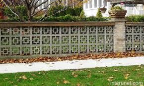 Decorative Cinder Blocks Brick Column Decorative Cement Blocks Fence Picture Interunet