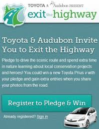 win a toyota prius exit the highway chance to win a toyota prius v