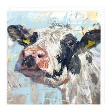 cow greeting cards curious cow greeting card by bartholomew whistlefish