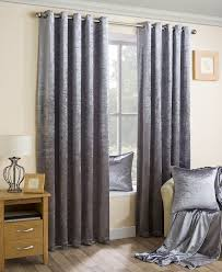 Burgundy Velvet Curtains Silver Crushed Velvet Soft Touch Pair Of Eyelet Curtains With Self