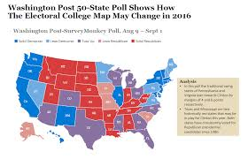 Washington Nc Map by 50 State Washington Post Poll Shows How Electoral Map May Change