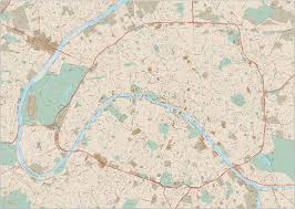 Paris World Map by Paris Center Map With Local Streets Adobe Illustrator U2013 Map