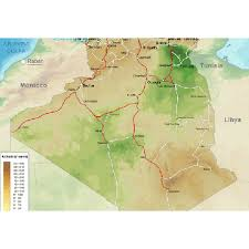algeria physical map algeria physical map world maps free all maps