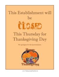 closed for thanksgiving sign png