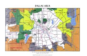 Dallas Ft Worth Map by Atlas Of Texas Map Collection Ut