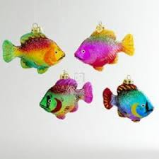 medallion collection clear glass fish ornaments 4pc co uk