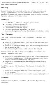 Porter Resume Sample by Professional Breakfast Shift Leaders Templates To Showcase Your